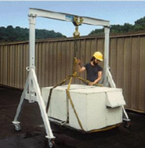 Adjustable Height Aluminum Gantry Crane
