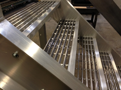 Bar Grating Stair Treads, Welded Steel Treads, Galvanized Treads, Metal Replacement  Stair Treads, Non Skid Stair Treads