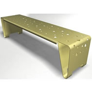double folded steel bench