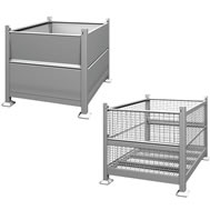 rigid steel bins
