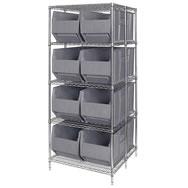 Genial Rack Bin Containers Free Shipping!