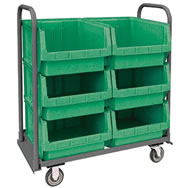 bins transport & sloped shelf trucks