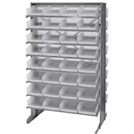 economy shelf bins sloped shelving units
