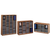 e-z stor wood literature organizers