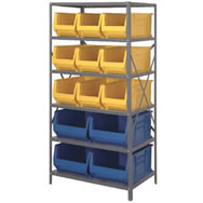 "heavy duty steel units with hulk 24"" containers"