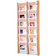 oak & acrylic literature displays