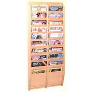oak magazine wall racks