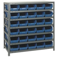 shelf bin shelving systems complete packages with bins