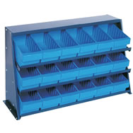 sloped shelving systems with euro drawers