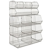Modular Wire Stacking Baskets Chrome Free Shipping