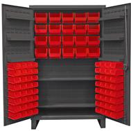 """4"""" deep door cabinets w/plastic bins"""