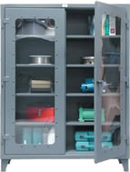 see-thru door storage cabinet