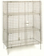 super adjustable and super erecta shelf stationary security