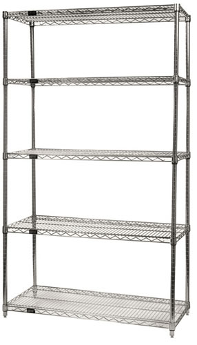 Chrome Wire Shelving System Chrome Wire Shelf Open