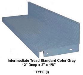 Closed Riser Diamond Plate Steel Stair Tread Galvanized