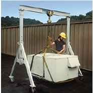 a series adjustable height aluminum gantry crane