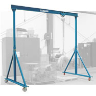 fixed and adjustable height steel gantry cranes