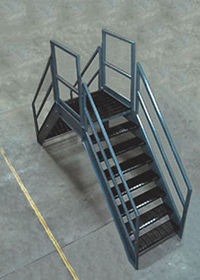 Steel Crossover Bridge Stair Sections
