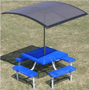 Curved Shade Umbrella. Aluminum Frame. Specify 6u0027 Or 8u0027 Pole.