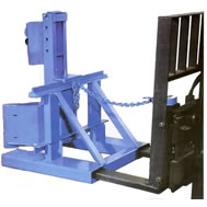 drum handling fork lift attachment