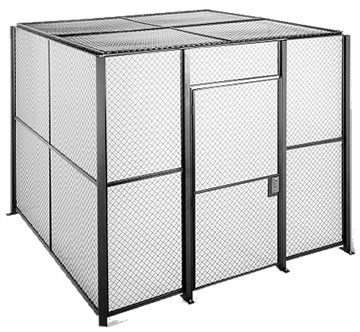 Security Cage Wire Partition Wire Mesh Security Rooms