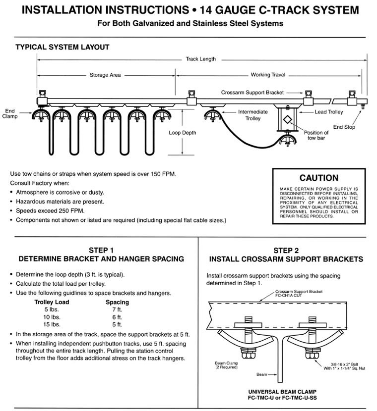 Industrial Festooning Systems, Festoon Cable Systems, Pendant Control