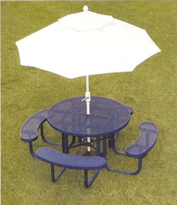 Champion Round Table With Umbrella