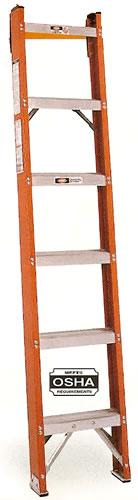 fiberglass shelf ladder