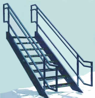Extra Heavy Duty Bar Grating Or Diamond Plate Stair Treads Wonu0027t Sag Or  Dish (supplied As Standard).