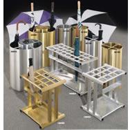 umbrella stands wastebaskets