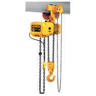 nerg series electric chain hoists with geared trolley