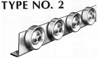 type 2conveyor rail wheels