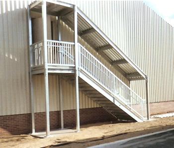 Ibc prefab steel stairways for Prefabricated staircases