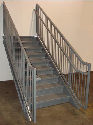 Ibc prefab steel stairways for Prefab staircase
