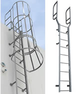 fixed steel ladders
