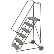 aluminum wheelbarrow-style ladder