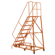 hd steel rolling warehouse ladders