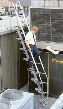 Man_down_aluminum_stairs