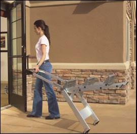 glide wheels for step ladder