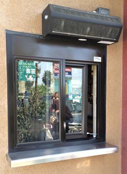 Lopro Drive Up Window Air Curtain Drive Thru Window Air