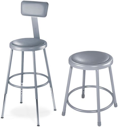 Padded Seat Stools Hardboard Seat Chairs Ergonomic