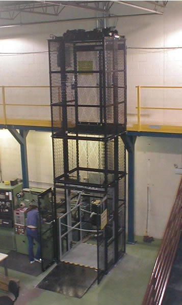 modular vertical lifts  mezzanine lift  custom industrial material lift  pallet master  vrc