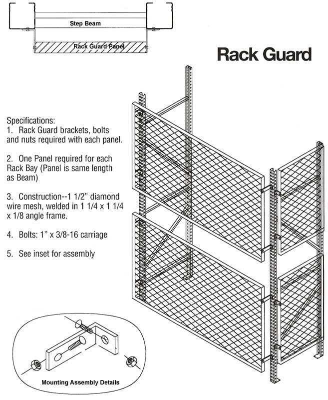 Rack Guard Steel Rack Guards Rack Safety Welded Wire
