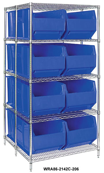 rack bin containers wire packages
