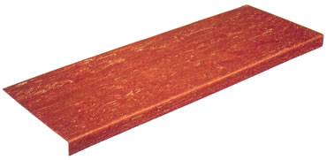 Rubber Stair Tread Systems Smooth Flat Surface