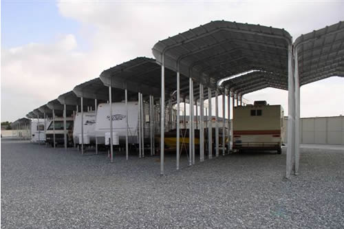 Steel Storage Shelters : Carports steel shelters storage boat vehicle