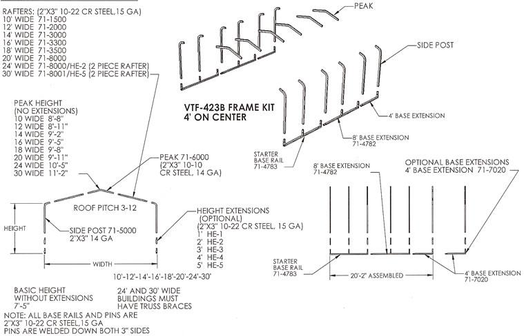 basic carport frame steel storage
