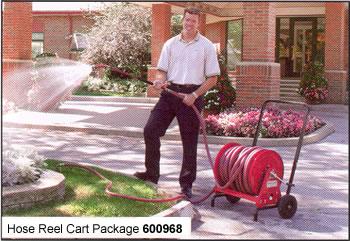 motor driven reel hose reel cart