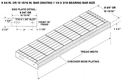 bar grating - Stair Tread