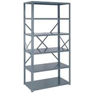 ironman 22 ga open steel shelving
